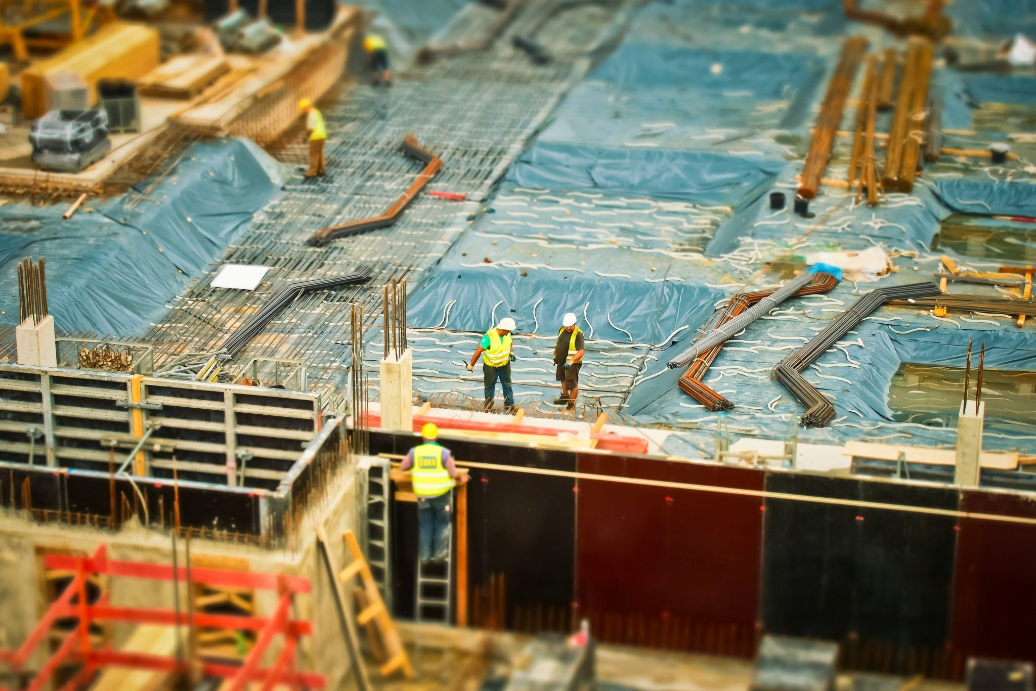 Construction products regulation on a building site